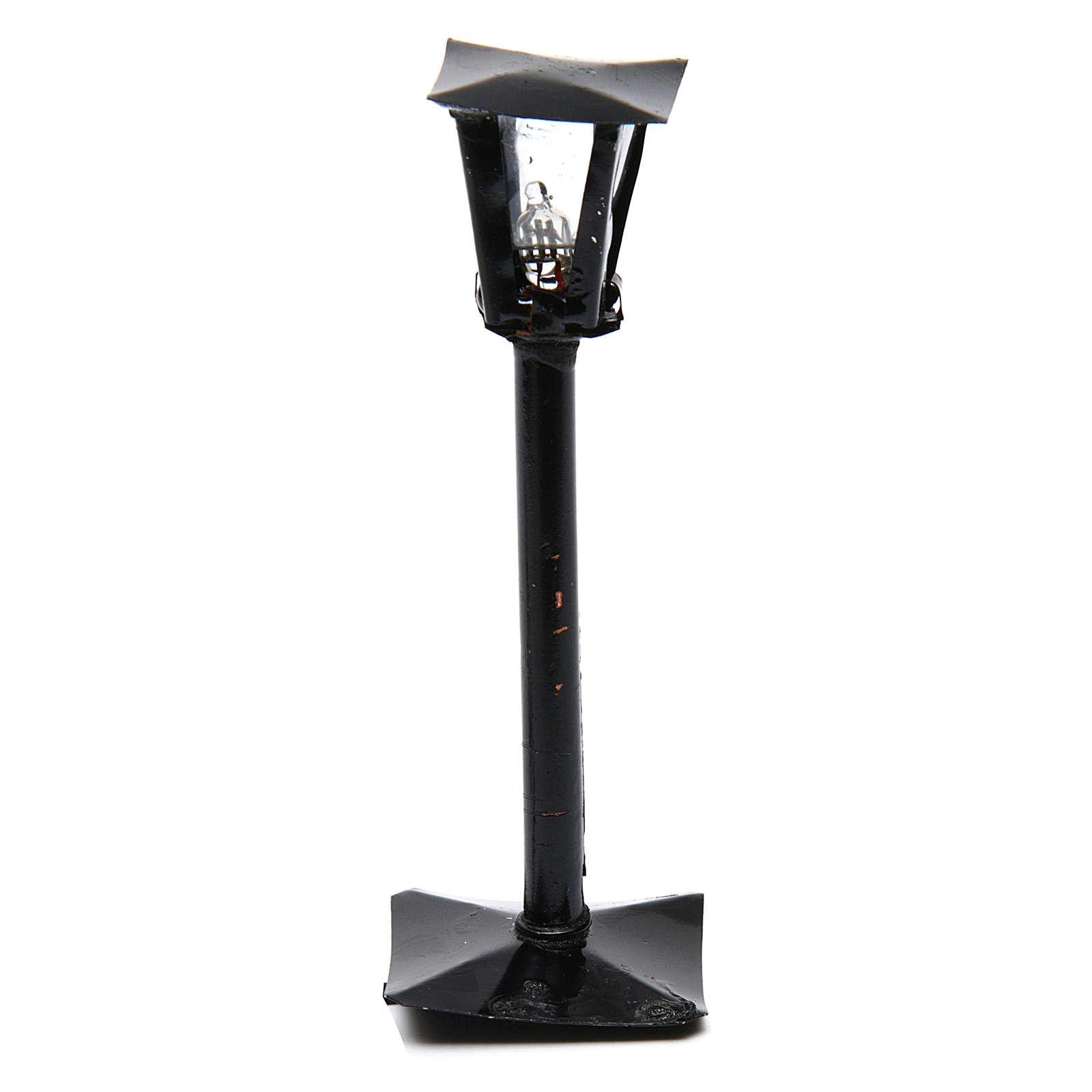 Latarnia uliczna z latarenką szopka zrób to sam h rzeczywista 11 cm - 12V 4
