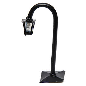 Réverbère de rue courbé avec lanterne h réelle 11 cm - 12V s1