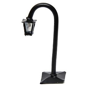 Lampione da strada curvo con lanterna h reale 11 cm - 12V s1