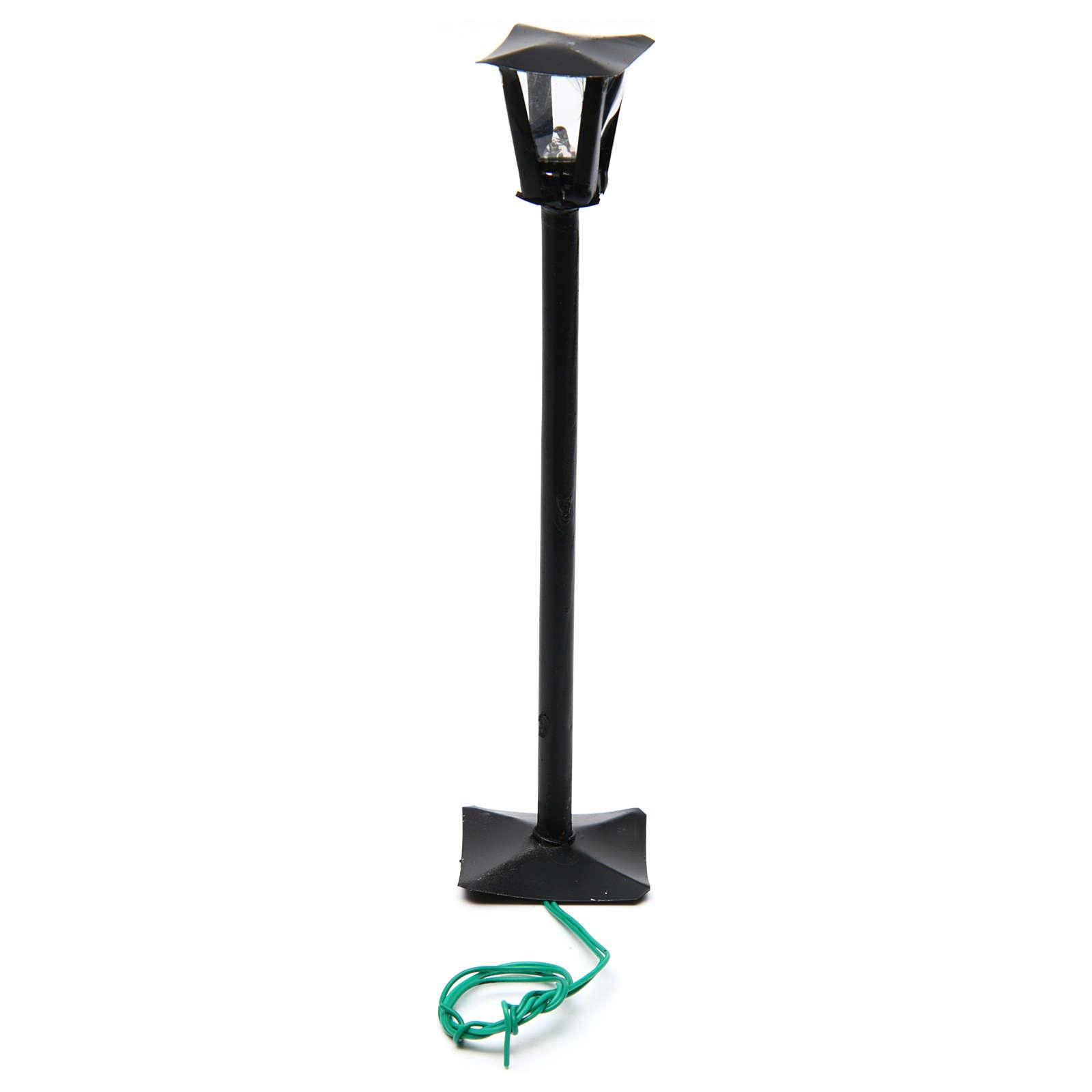 Réverbère de rue et lanterne h réelle 17 cm - 12V 4