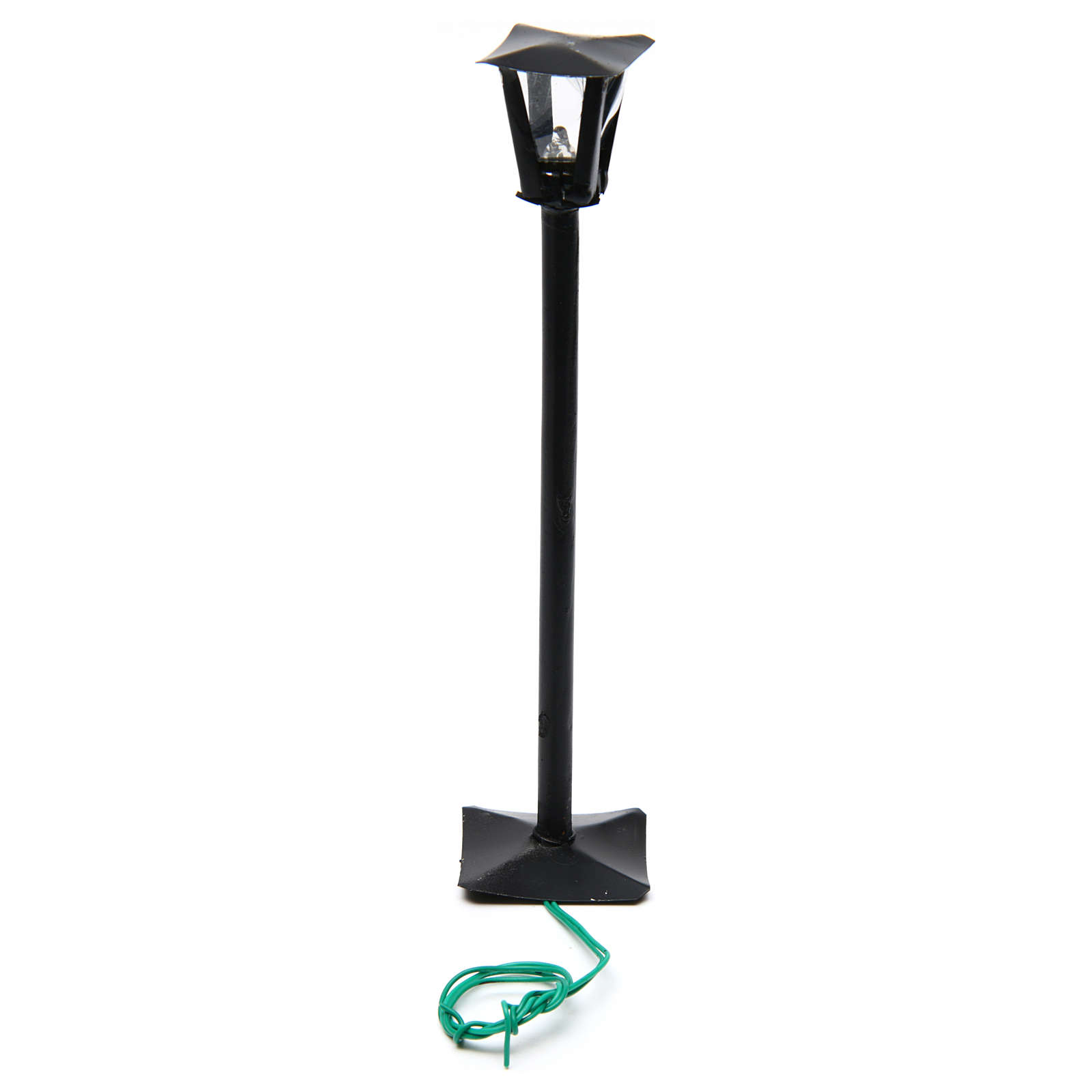 Street lamppost and lantern real height 17 cm - 12V 4