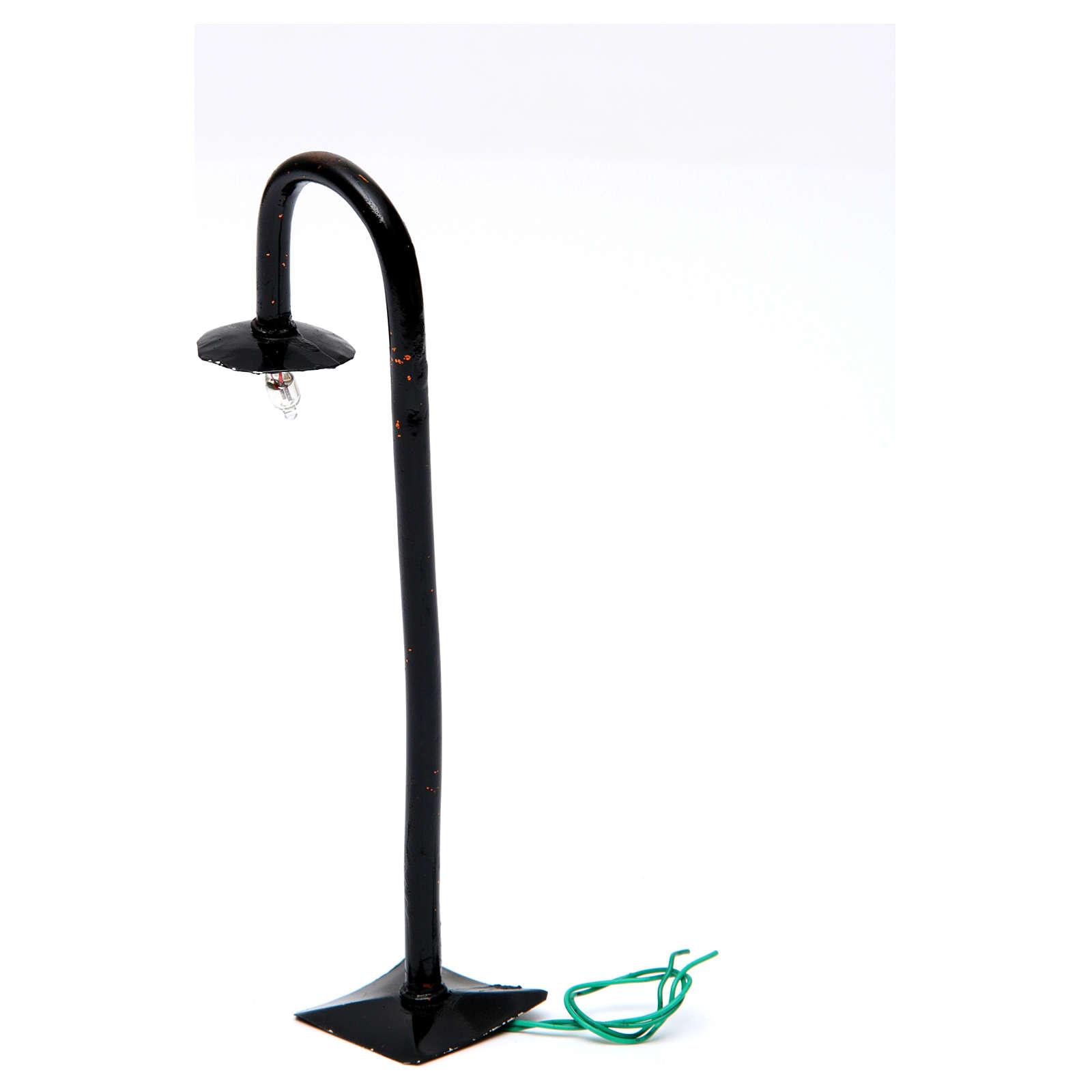 Lampione da strada con piatto h. reale 17 cm presepe Napoli - 12V 4