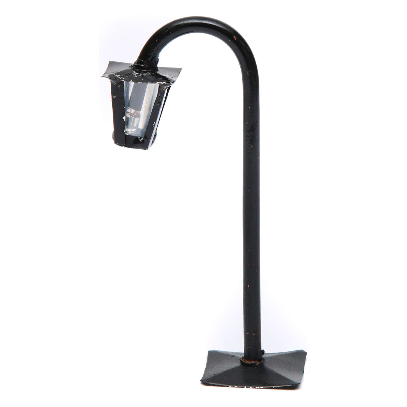 Curved streetlight with lantern real height 13 cm for Neapolitan Nativity Scene 4