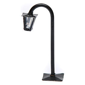 Curved streetlight with lantern real height 13 cm for Neapolitan Nativity Scene s1