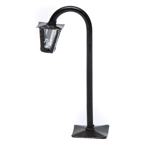 Curved streetlight with lantern real height 13 cm for Neapolitan Nativity Scene 1