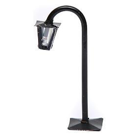 Lampione da strada curvo con lanterna h reale 13 cm presepe Napoli - 12V s1