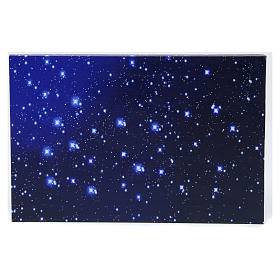 Starry sky with fibre optic lights for Neapolitan Nativity scene 30x20 cm s1