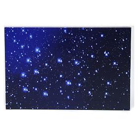 Fonds pour crèche Noel: Ciel lumineux en fibre optique 30x20 cm crèche napolitaine