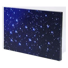 Cielo luminoso a fibra ottica 30x20 cm presepe s2