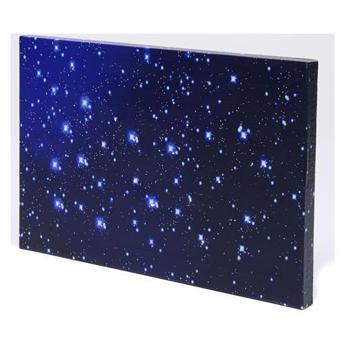 Cielo luminoso a fibra ottica 30x20 cm presepe 2