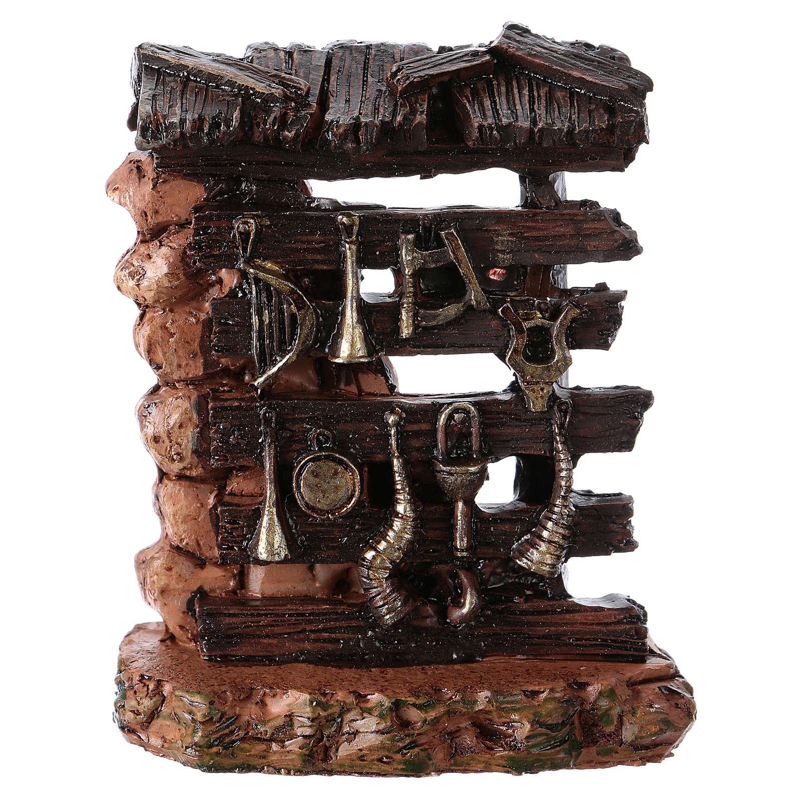 Musician's rack 5x5x3 cm in resin for Nativity Scene 4