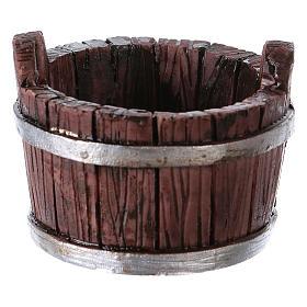 Oval Tub in Resin 4x5x5 cm for nativity s1