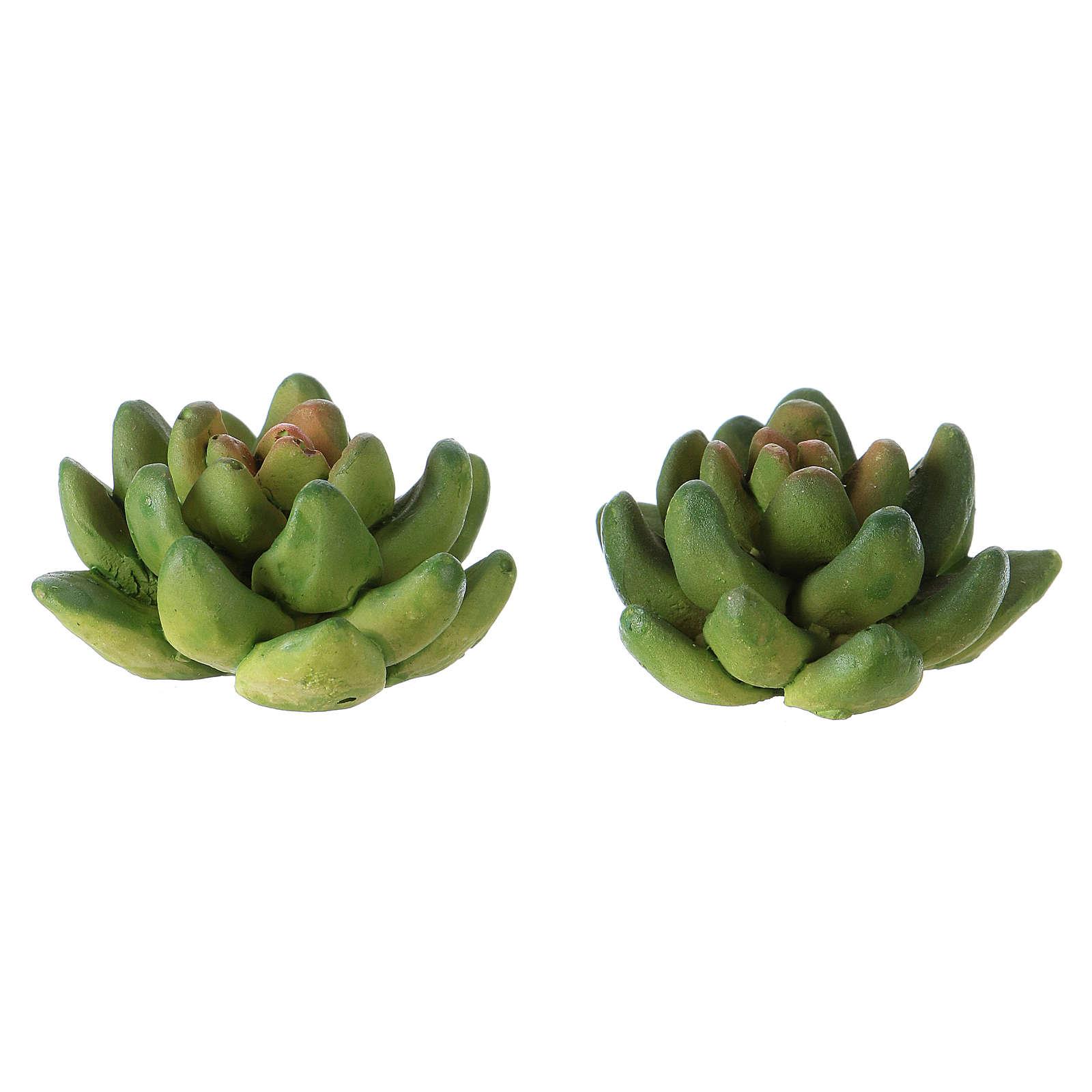 Set 2 plantas 2x3x3 cm resina para belén 4