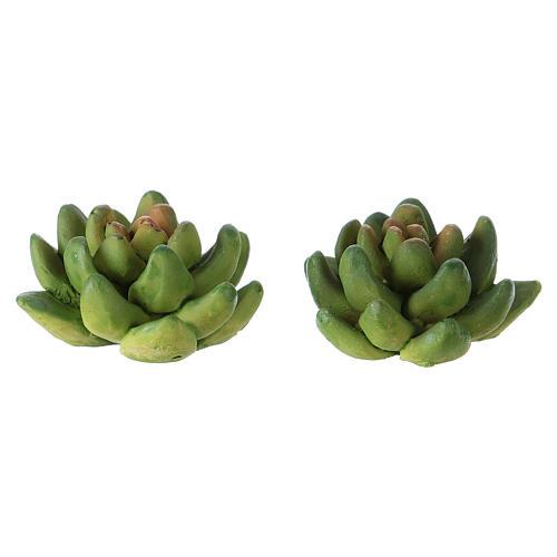 Set 2 plantas 2x3x3 cm resina para belén 1