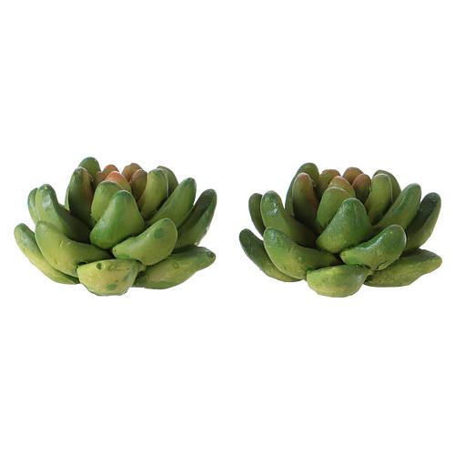 Set 2 plantas 2x3x3 cm resina para belén 2