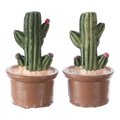 Vaso e pianta set 2 pezzi 3x2x2 cm per presepe 2
