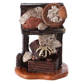 Comida em Miniatura para Presépio: Banca peixaria 7x5x5 cm para presépio