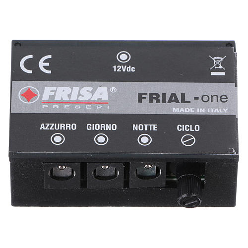 Control unit Frial One Star 30 light blue LEDs 60 white LEDs with fiber optic stars and music device for Nativity scene 1