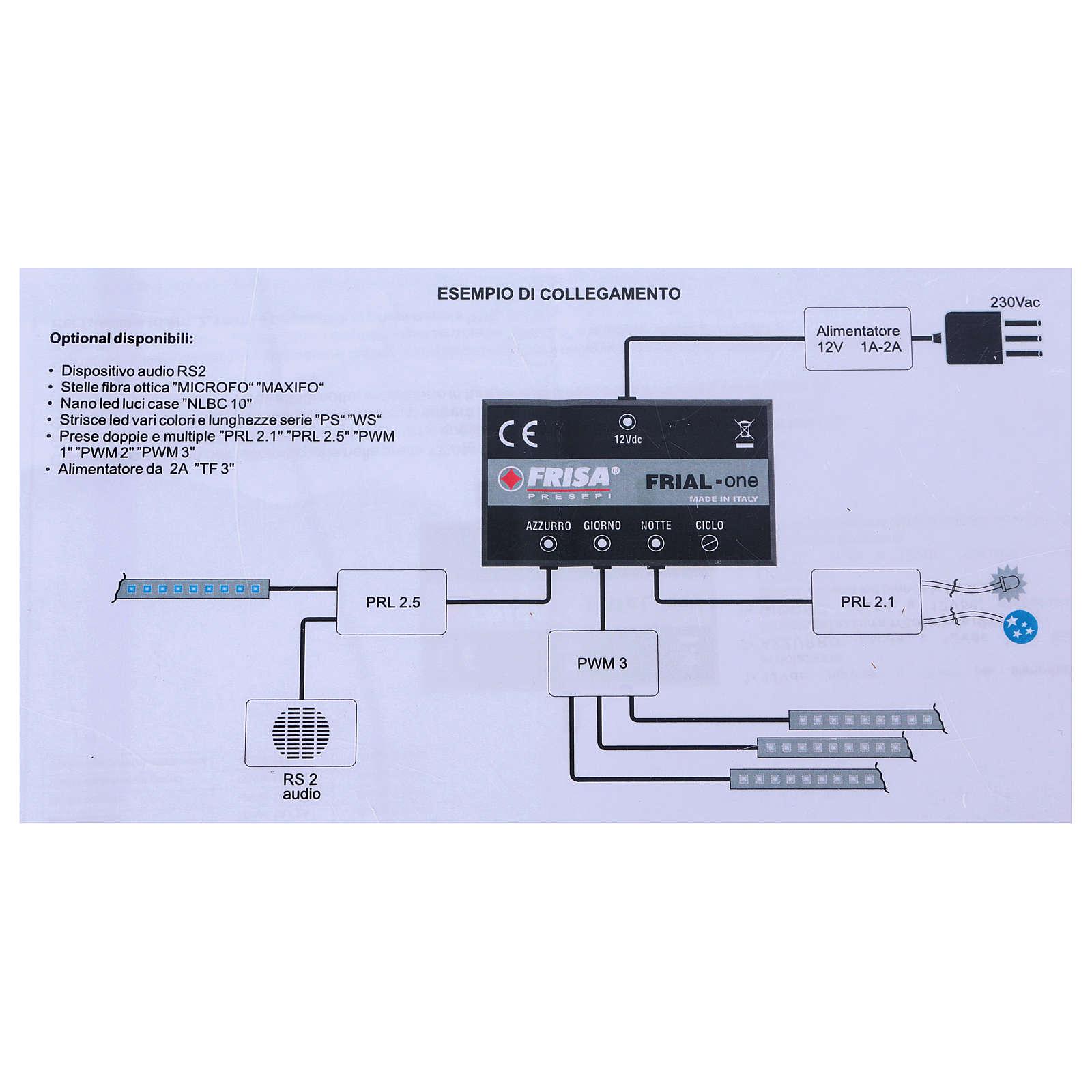 Circuito de control Frial One Star 30 led azules 60 led blancos dispositivo musical estrellas fibra óptica 4