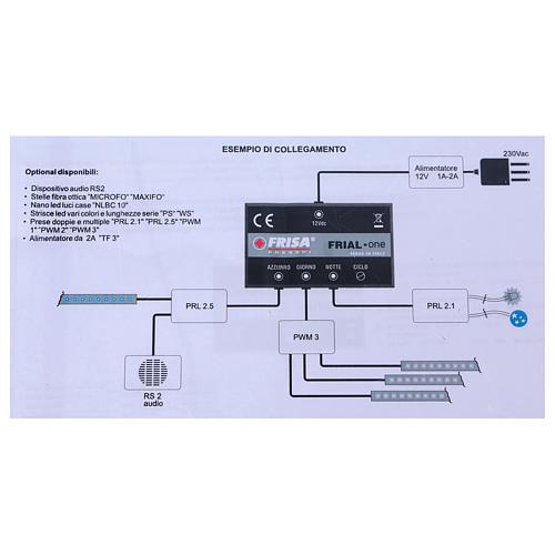 Circuito de control Frial One Star 30 led azules 60 led blancos dispositivo musical estrellas fibra óptica 13