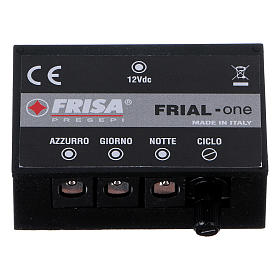Control unit Frial One Music 30 light blue LEDs 60 white LEDs with musical device for Nativity scene s1