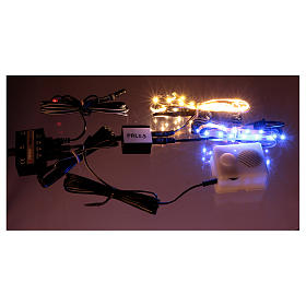 Control unit Frial One Music 30 light blue LEDs 60 white LEDs with musical device for Nativity scene s3