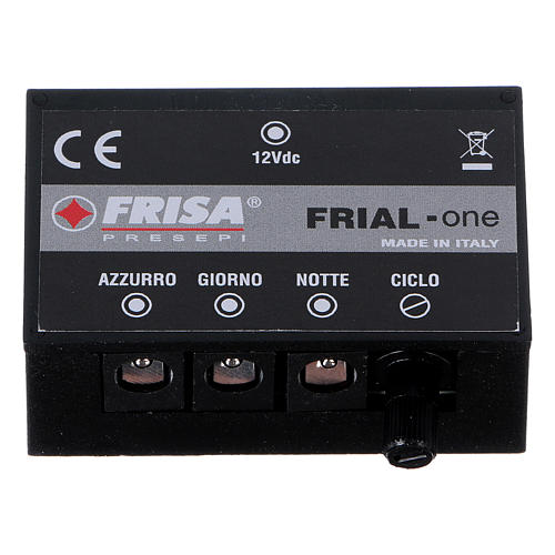 Control unit Frial One Music 30 light blue LEDs 60 white LEDs with musical device for Nativity scene 1