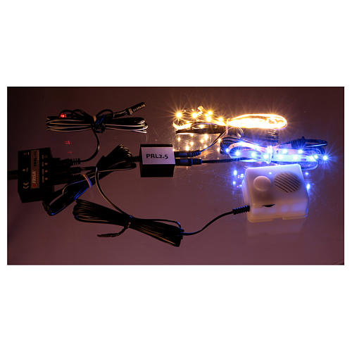Control unit Frial One Music 30 light blue LEDs 60 white LEDs with musical device for Nativity scene 3