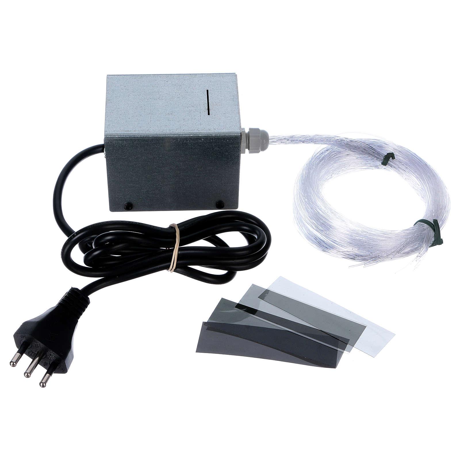 Control Unit for fiber optic stars Light Filter 50 assorted threads for Nativity scene 4