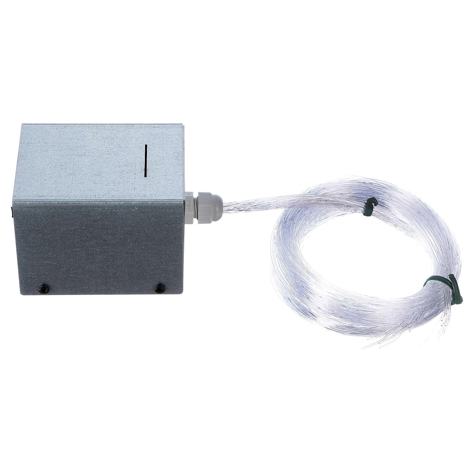 Controlador estrelas fibra óptica Light Filter 50 fios vários para presépio 4