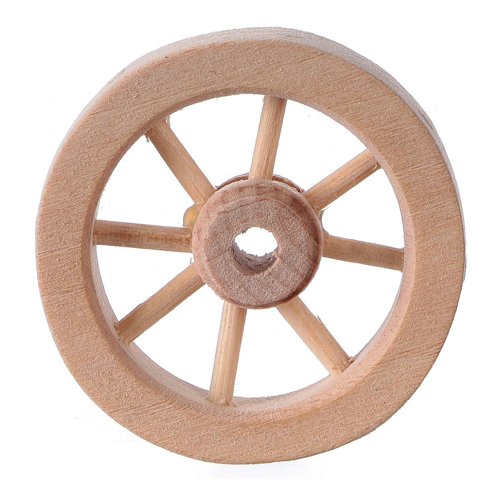 Rueda carro belén madera clara diám. 3,5 cm 4