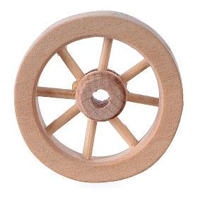 Herramientas de trabajo: Rueda carro belén madera clara diám. 3,5 cm