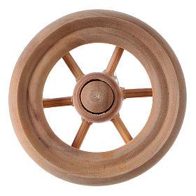 Carriage wheel for Nativity scene in light wood diam. 3.8 cm s1