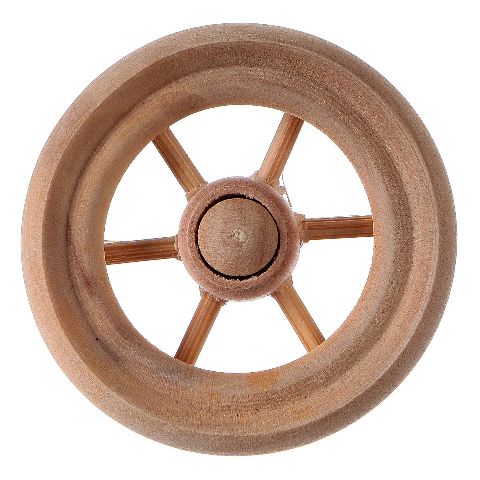 Ruota per carro presepe legno chiaro diam. 3,8 cm 4