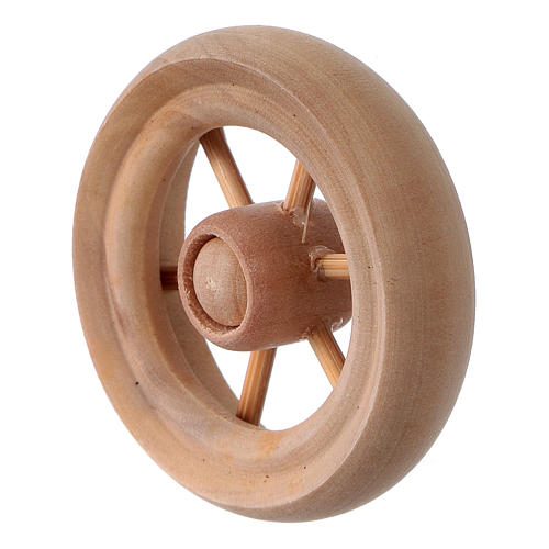 Nativity Carriage Wheel light wood diameter 3.8 cm 2