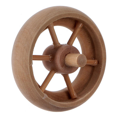 Nativity Carriage Wheel light wood diameter 3.8 cm 3