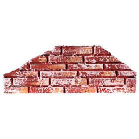 Mauerbrüstung, rustikal, aus Polystyrol, farbig gefasst, 10x25x2 cm s1