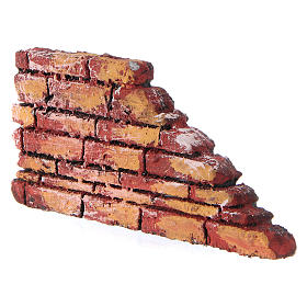 Mauerbrüstung, rustikal, aus Polystyrol, farbig gefasst, 10x20x3 cm s2