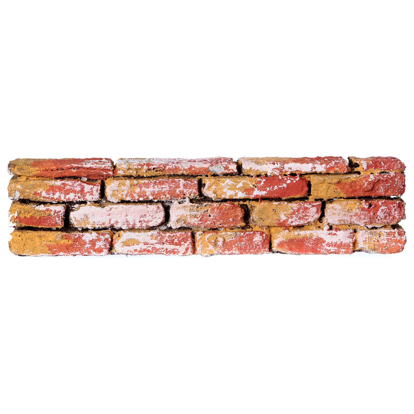Mauerbrüstung, aus Polystyrol, farbig gefasst, 5x20x3 cm 4