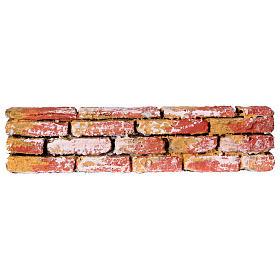 Mauerbrüstung, aus Polystyrol, farbig gefasst, 5x20x3 cm s1