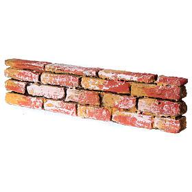 Mauerbrüstung, aus Polystyrol, farbig gefasst, 5x20x3 cm s2