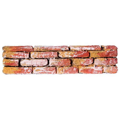 Mauerbrüstung, aus Polystyrol, farbig gefasst, 5x20x3 cm 1