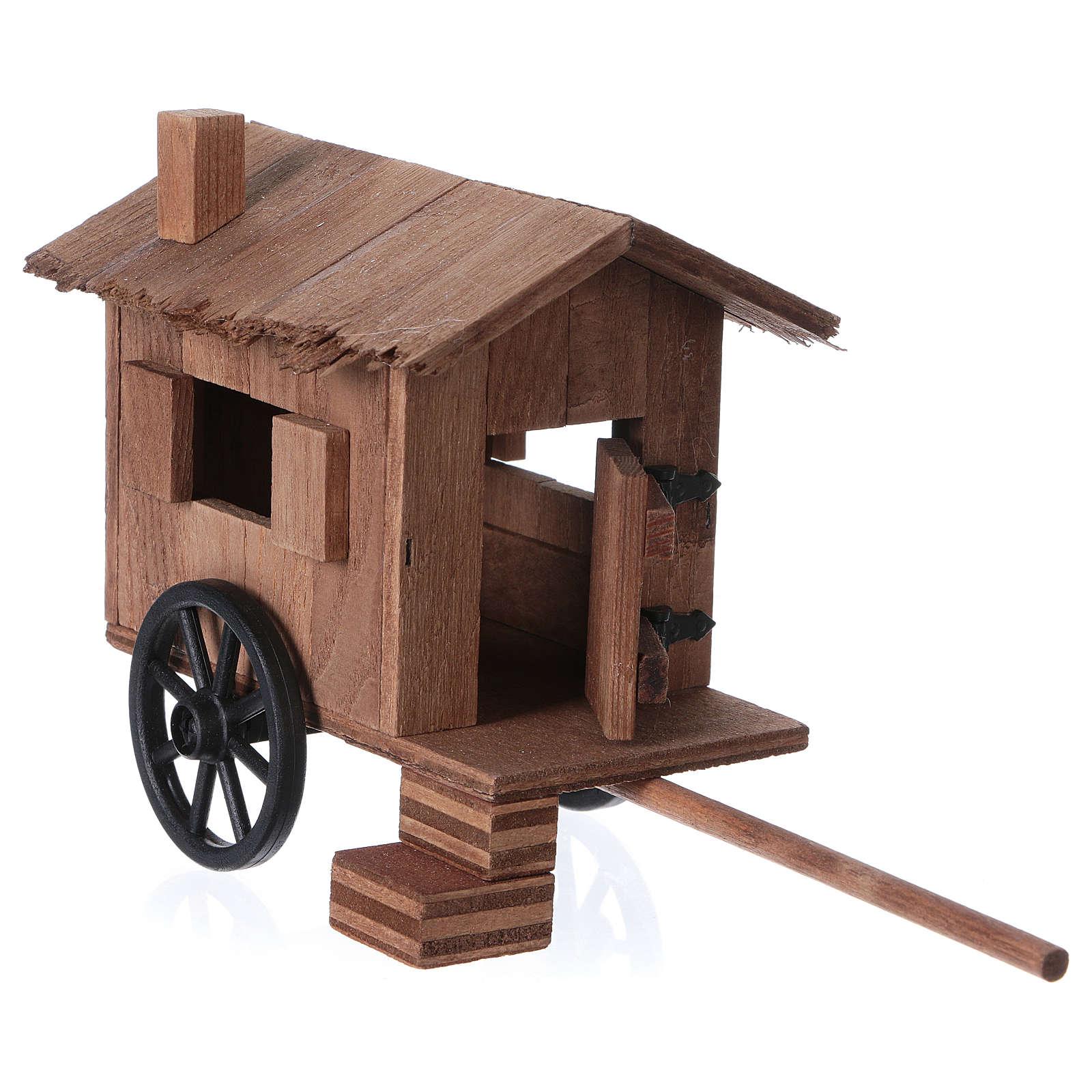 Carretto per animali stile tedesco 11x20x8 cm per presepi di 10-12 cm 4