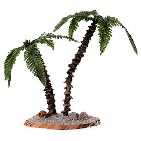 Double palm tree real height 13-18 cm for Nativity Scene s1