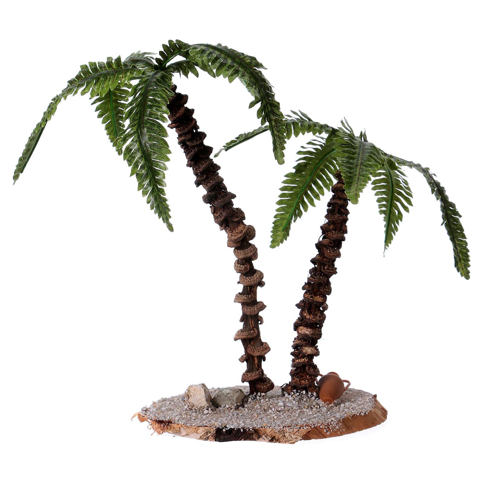 Doppia palma h reale 13-18 cm per presepe  4
