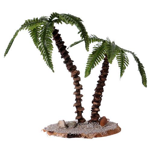 Doppia palma h reale 13-18 cm per presepe  2