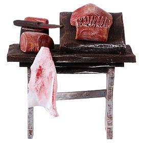 Comida em Miniatura para Presépio: Banca de açougueiro para presépio com figuras de 12 cm de altura média