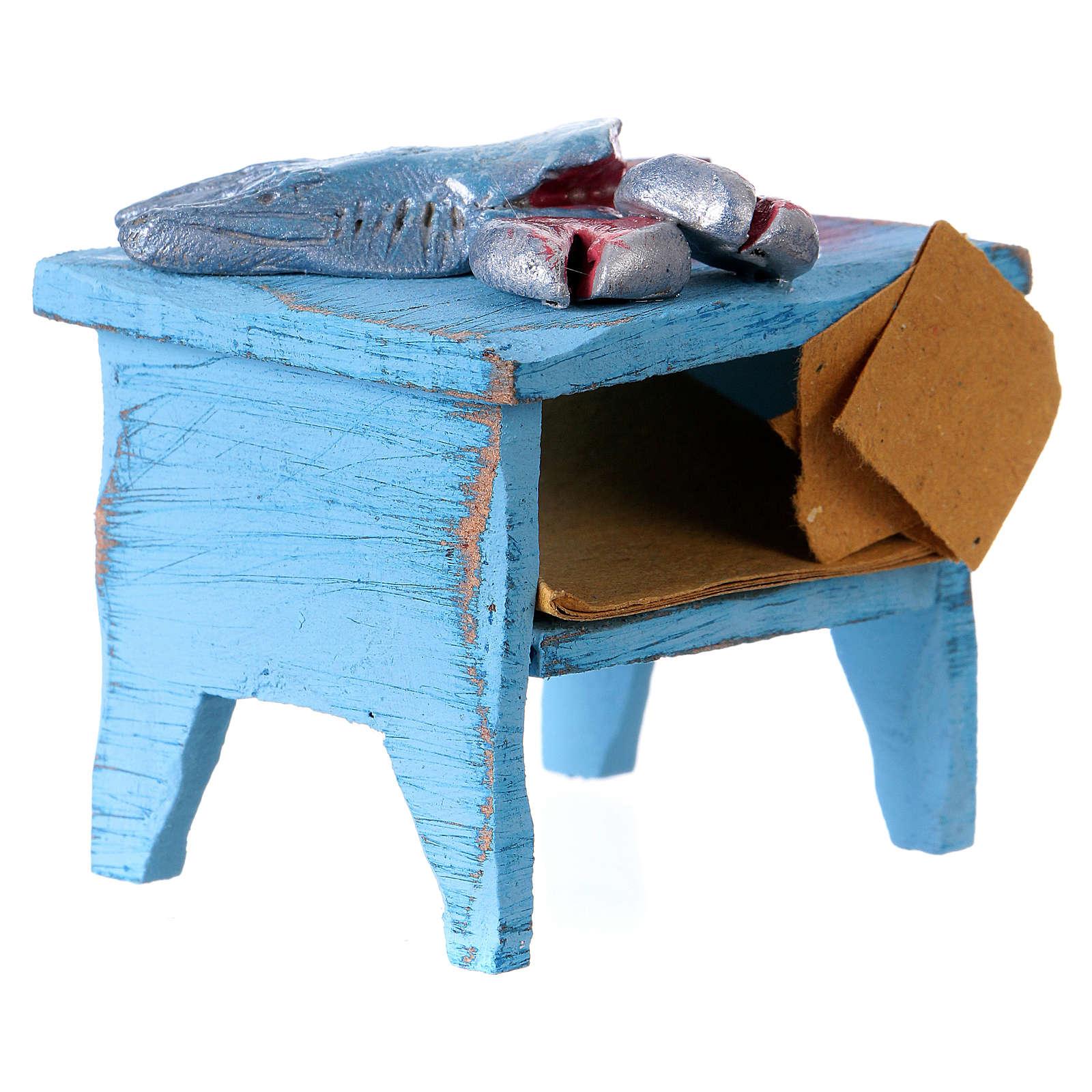 Swordfish vendor table, for 10 cm nativity 4