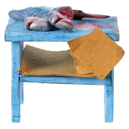 Swordfish vendor table, for 10 cm nativity 1
