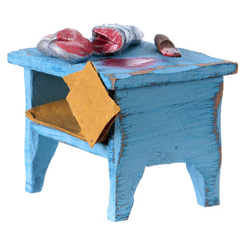 Swordfish vendor table, for 10 cm nativity 2